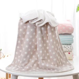 Baby Soft Double Layer Decken 100 * 150cm korallenrote Vlies-neugeborene Baby-Decke Wärme-Druck Babydecken Heimtextilien 9 Arten DBC DH0740
