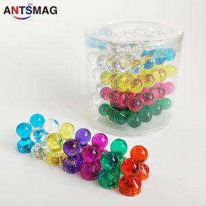 Магниты с канцелярскими кнопками, 60 упаковочных красочных магнитных кнопок, магнитные канцелярские кнопки, совершенные магниты для карты, магниты на холодильник, магниты для белой доски