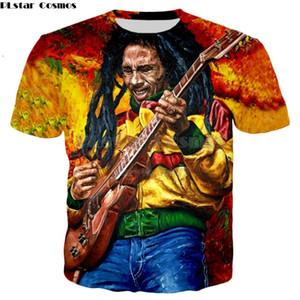 PLstar Cosmos груза падения Reggae Хип-хоп тенниску Боб Марли символы Печать 3D Мужчины / Женщины тенниска лето стиль Casual футболки Y200104