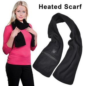 New 2019 Heated Warming Scarf Neck Heating Pad Black USB Power Supply Electric Heated Neck Wrap Scarves For Men Women