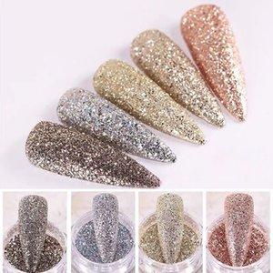 1 Box Holographic Sequins Gold Silver Dazzing Party Glitter Nail Powder Pigment Dust for Gel Polish Shinning Nail Art Decoration