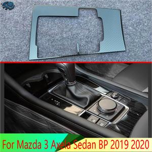 3 Axela Sedan BP 2019 2020 Araç Aksesuarları Paslanmaz Çelik Vites Paneli Merkezi Konsol Kapak Trim Frame için