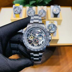 Para hombre de lujo maestro Top Versión ver La Montoya 116500LN 116503 116506 calada Esqueleto Movimiento Tourbillon Automático reloj para hombre de la moda