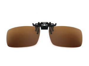 Hombres gafas de sol polarizadas lente creativa mujeres Flip-up Clip en gafas 2020 moda gafas de visión nocturna gafas de sol Clip 2018