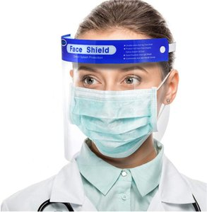 US Stock Safety Face Shield Clear Anti-fog PET Plastic Non-Medical Use Visor Splashproof Windproof Dustproof Protect Eyes and Faces