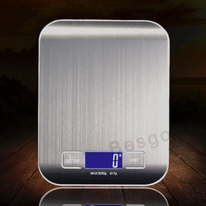 5000g / 1g LED Elektronische Digitale Küchenwaage Multifunktionsnahrungsmittelskala Edelstahl LCD Precision Schmuck Skala Gewicht-Balance BC BH2897