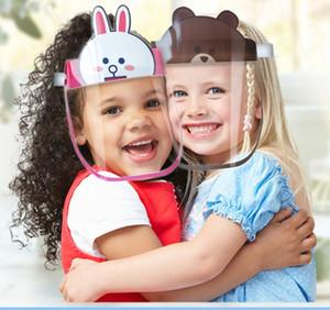Universal Face Designer Shield Anti-fog Protective Mask HD Transparent Kids Child Full Face Oil-Splash Proof Dust Protection Safe Masks