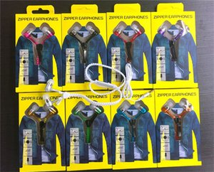 Zipper Kopfhörer-Kopfhörer 3.5MM Jack Bass Earbuds In-Ear-Kopfhörer mit Zip-Kleinpaket für Samsung HUAWEI MP3 MP4 Player