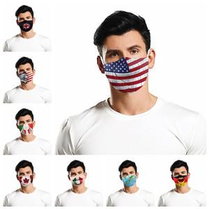 2020 Fashion Mask 3D Print Flag Mouth Mask Dust-proof Suncreen Reusable Breathable Washable Funny Face Mask IIA221