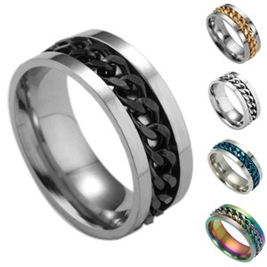 Valentine'S Day Gift- Mixed Order Dropshipping Stainless Steel Rings Mens Ring Chain And Tyre Design Rings Jewelries Factory Supplier 016 #72
