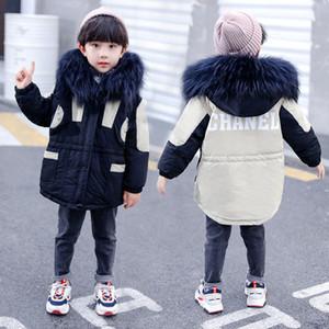 Erkek Bebek Down Coat Çocuklar Splice Kürk Yaka Kapşonlu Ceket Çocuk Casual Giyim Erkek Bebek Bebek Kış Kalınlaşmak Aşağı Casual Giyim Giyim 06