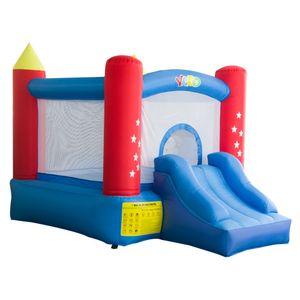 QUINTAL Inflável Bouncy Castelo Casa Jogos de Salto de Castelo Para Crianças Ao Ar Livre Uso Doméstico Inflável Navio Bouncy Porta Para Porta