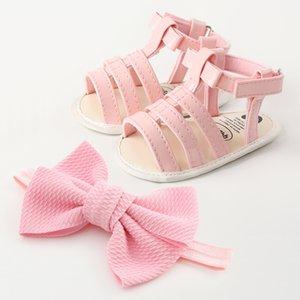 Scarpe Roma Gladiator di bambino del bambino morbido PU Baby scarpe Firstwalkers 0-18M Infant Pattino-prova con l'arco fascia