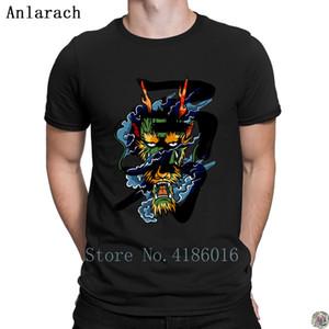 Храбрый Дракон футболка письма с коротким рукавом хип-хоп топы homme мужская футболка персонализированный слоган лето Anlarach best
