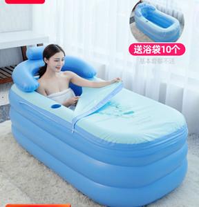 1.6M Adulto portátil inflable bañera Inicio engrosamiento Barril plegable Niños puede sentarse mentira plástico PVC inflable bañera de baño SPA
