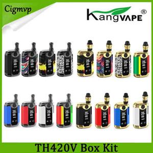100% Original Kangvape TH-420 V Caixa Kit 800 mAh Bateria de Pré-aqueça 0.5 ml de Óleo Grosso Tanque De Cerâmica Tanque TH420 Caixa Mod Autêntico