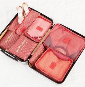 Designer-Reisetasche 7 Sätze von Gepäck Verpackung Finishing Beutel Schuhe Unterwäsche Make-up Tasche