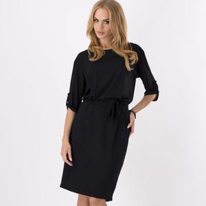 Il nuovo modo donne vestono la vendita calda casuale Celeb Autunno Inverno Medio manica di lavoro fascino sottile vestiti all'ingrosso Spedizione gratuita