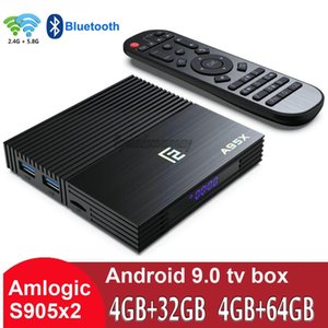 A95X F2 Amlogic S905X2 Android 9.0 TV Box 4 Go + 32 Go / 64 Go Support double Wifi 2.4G + 5G caja de tv android PK H96 TX3