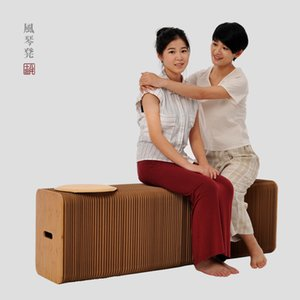 Accueil Meubles Softeating Design moderne accordin papier pliant Tabouret Canapé Chaise Papier Kraft Relaxant pied Tabouret-design de mode papier