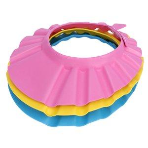 1Pc Baby-Kind-Shampoo-Bad Kinder wasserdichte Kappe, Safe, Dusche Cap Bad Masken-Hut Adjustable Dusche Protect Augen Haar