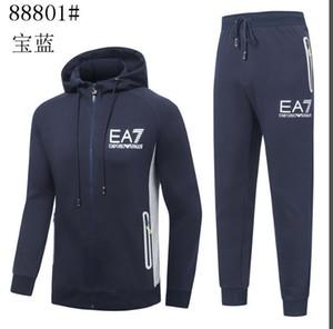 Yeni Tasarımcı Eşofman Erkekler Lüks Ter Suits Sonbahar Marka Erkek eşofman koşucu Suit Ceket + Pantolon takımları Suit Baskı erkekleri Spor