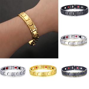 Elegant Titanium Magnetic Therapy Bracelet Pain Relief for Arthritis and Carpal Tunnel Mens Bracelets Pour Hommes