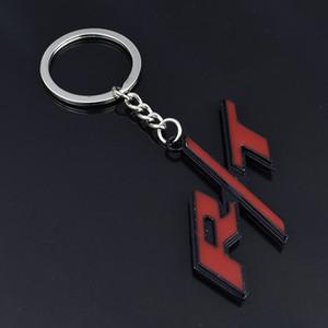 Metal Araba Anahtarlık Anahtarlık Oto Anahtar cip RT Dodge R / T Logo Challenger Şarj Yolculuğu RAM Şekillendirme Aksesuarlar için Anahtar Yüzük zincirleyin