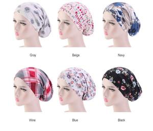 Nouveau Coton Chapeau De Nuit Chapeau Double Usure latérale Femmes Et Hommes Floral Print Head Cover Bonnet De Sommeil Coton Bonnet pour De Beaux Cheveux Meilleure Qualité C329