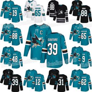 San Jose Sharks Brent Burns Tomas Hertl Logan Couture Timo Meier Evander Kane Joe Thornton Erik Karlsson Kevin Labanc Patrick Marleau Jersey