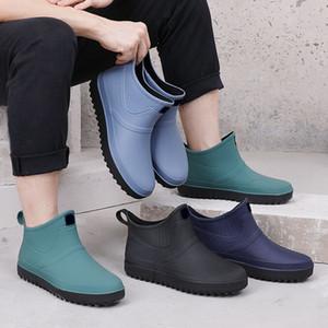 Gli uomini di gomma da pioggia Scarpe Slip On impermeabile Low-Heel tubo PVC pioggia stivali da lavoro 2019 la vendita calda degli uomini Stivali T200630