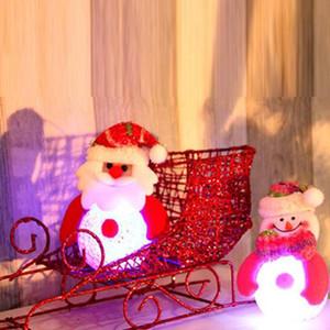 Led party LED Flash Light christmas Santa Claus Doll Toys Light Up Toys For Children Birthday Christmas Gift Wedding Decoration T191022