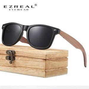 Ezreal Marque Noyer Bois Polarized lunettes de soleil Womenoculos De Sol Masculino S7061H Ezreal Marque sur les pieds dyAJT