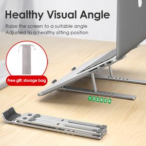 Laptop Stand Lingchen para MacBook Pro Notebook soporte plegable de aleación de aluminio de la tableta del soporte del titular del ordenador portátil para el cuaderno