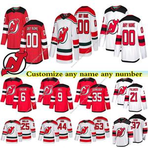 New Jersey Devils jérseis 9 HALL 35 SCHNEIDER 21 PALMIERI 6 GREENE 25 MUELLER 63 BRATT costume qualquer número qualquer jérsei conhecido hóquei
