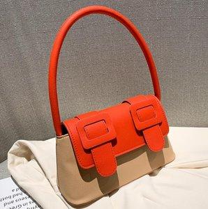 2020 Cambridge Bag Lady Contrast Color Underarm Baguette Bag Female Fashion Handbag Shoulder Bags