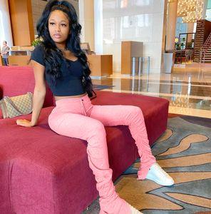Брюки для спортивных штанов Fight Famale Leggings Brage Color Stacked Women Slim Solid Stacked повседневный дизайнер LPNQM