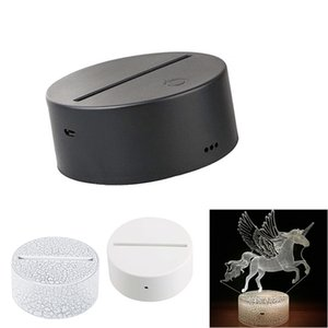 Lâmpada 3D suporte da lâmpada toque de Bases Night Light USB Decor cabo Iluminação de substituição 7 Cor Dispositivo elétrico claro para o Quarto criança que vive partido quarto