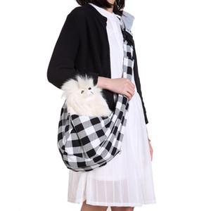 Pet karierte Tasche Mode mit Telefon Taschen Katze Hund Kreuz Schulter Verstellbare Umhängetaschen Travels Toten Einzelhandtaschen Carriers LJJA3635