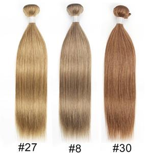Kisshair Color8 Ash Brown Color27 Honey Blonde Color30 Medium Auburn прямо Объемная волна человеческих волос ткать бразильский Богородица Наращивание волос