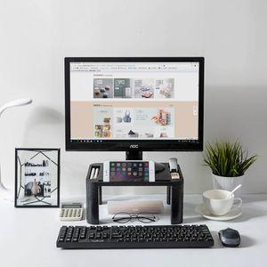 1PC ajustável Home Office Monitor Desktop Montagem Auto TV LCD Laptop cremalheira tela do computador Riser Shelf T200320