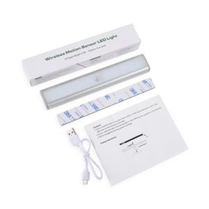 USB sensores movimiento de luz LED LED Wireless Cocina / Lámpara de pared Nivel 3Mode Brillo 30 LED armario / Armario / Bajo la luz del gabinete