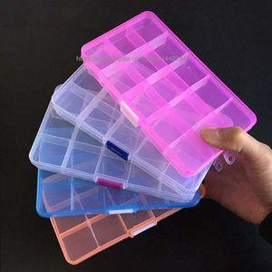 120pcs 15 griglie di plastica gioielli Box mobile divisori regolabili scomparto organizer Piccole Cose Contenitore Strumento Contenitori