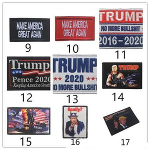 TRUMP Armband Armband ricamato 2020 Patch Keep America Grande USA Flag tattico Morale patch Race For President DHL N6R