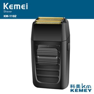 Kemei KM-1102 ماكينة حلاقة قابلة للشحن للرجال العناية بالوجه ماكينة حلاقة رجالية ماكينة حلاقة قوية DHL مجانا