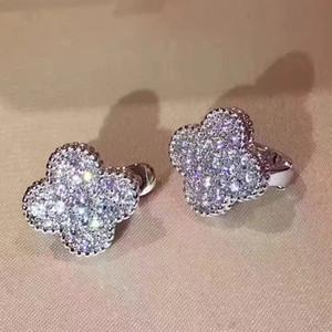 مسمار الجودة الفاخرة اسم العلامة التجارية الأعلى قرط تصميم الزهور وحلق للمجوهرات النساء الزفاف انخفاض الشحن هدية