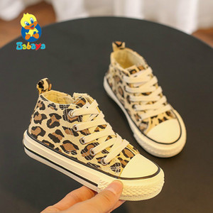 Zapatos de lona del Babaya niños zapatos casuales de la moda Sneakerrs transpirable 2019 otoño nuevo leopardo patrón de impresión de Niños Zapatos