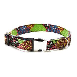 Dog collar small size designer personality Teddy Chihuahua Labrador retriever black back small medium large dog metal buckle collar