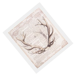 Abstract Art Deer Antlers Canvas Oil Painting Wall Art Poster Decor 40x50cm