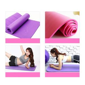 DHL Livraison gratuite 183 * 61cm NBR Yoga Mats Maigrir Solide Couleur anti-patinage Gymnastic Sport Santé Haute Qualité FY6019